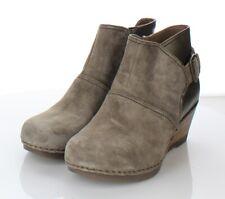 23-40 $185 Women's Sz 36 M Dansko Shirley Suede & Leather Wedge Bootie