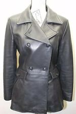 Rudsak Women Leather Jacket Winter Black Small Made In Canada Fitted Snow Rain