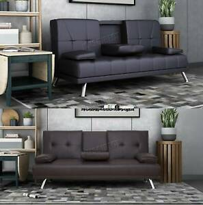WestWood Faux Leather Manhattan Sofa Bed recliner 3 Seater Modern Luxury Design