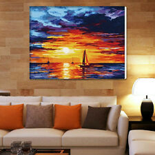 "16"" x 20"" DIY Paint By Number Kit Acrylic Painting On Canvas - Sunset"