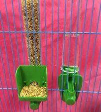 Alimentador del Pájaro semilla & Agua Clipper fuente alto externo Budgie Canary Finch Verde