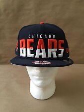 "New Era 9Fifty Chicago Bears ""Dividing Line"" Snapback Navy/Orange/White OSFM NWT"
