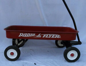 Vintage Radio Flyer Children's Pull Ride on Red Wagon needs some TLC