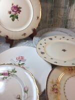 8 Vintage Mismatched China Dinner Plates Wedding Boho Event Pink  Roses #10