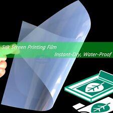 "Waterproof Inkjet Screen Printing Transparency Film for EPSON,8.5""x11"",50 sheets"