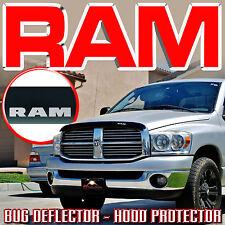 2006-2009 DODGE RAM BUG ROCK DEFLECTOR with LOGO - HOOD WINDSHIELD PROTECTOR