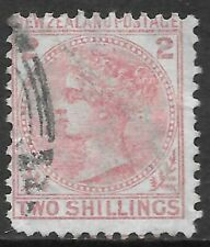 NEW ZEALAND 1874 2s deep rose, used. SG 185. Cat.£300.