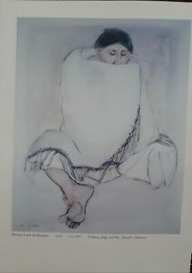 "R.C.Gorman-""NAVAJO LADY in BLANKET""- Native American  Art Print-- 13x9.5"