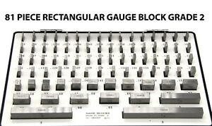 81 PIECE RECTANGULAR GAUGE BLOCK GRADE 2 0.1001 TO 4.000 GAGE SET