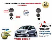 Per Toyota Yaris Vitz 2005- > Nuovo 2 X Anteriore Ammortizzatore Top Supporto