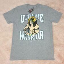 New WWE 'Ultimate Warrior' Vintage Legends Medium Heather Gray T-Shirt.