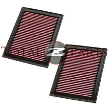 K&N Two Air Intake Filters for Infiniti FX35 FX37 FX50 Q50 M56 Q60 Q70 QX70 M56