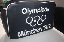 OLYMPIADE MÜNCHEN 1972 Tasche mit Trageriemen in schwarz Guter Zustand