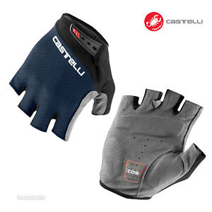 NEW 2021 Castelli ENTRATA V Summer Cycling Gloves : SAVILE BLUE