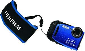 Original Fuji Float Strap Blue fits FujiFilm XP120 XP130 XP140 Waterproof Camera