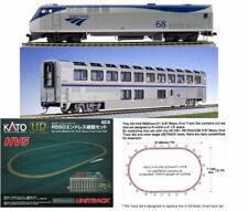 HO Kato 302003 AMTRAK STARTER SET P42 Loco #19, Superliner Car/Track/Pack NIB