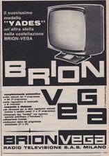 Pubblicità anni 60 sessanta BRIONVEGA radio tv televisione YADES 1961 brion-vega