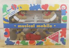 NOS Vintage Dakin Sailor Teddy Plush Bear Nautical Musical Baby Crib Mobile
