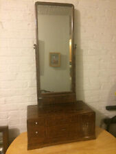 Vintage Japanese Kyodai Vanity Dresser Mirror and Chest Tansu
