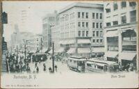 Rochester, NY 1904 Postcard: Main Street/Trolley/Tram/Downtown - New York