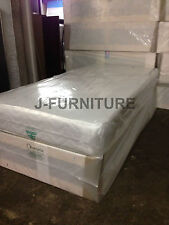 3ft Single Divan Bed/medium Firm 22cm Mattress/frame With Two Drawers