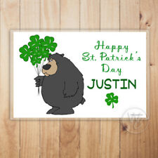 Personalized Placemat, Happy St. Patrick's Day Laminated Mat, Custom Name