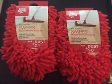 2 New DIRT DEVIL Dry Cleaning SWIPES Dust+Go Washable Microfiber Dusting Pads