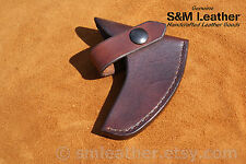Brown Tomahawk Leather Sheath Mask Hawk for Crkt Columbia River Rmj Woods Chogan