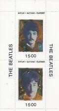 Los Beatles John Lennon Paul Mccartney Rock N Roll Miniatura estampillada sin montar o nunca montada SELLO Sheetlet