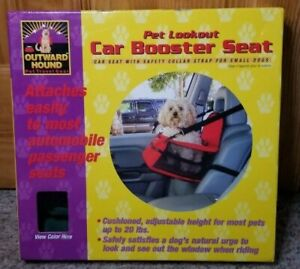Outward Hound Pet Lookout Car Booster Seat for Small Pets Up to 20 lbs in Green