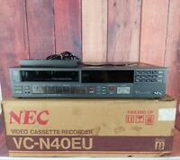 Vintage NEC Video Cassette Recorder Beta Max Player VC-N40EU With Original Box