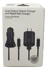 Verizon 3.4A Dual Car Charger and 2.4A Rapid Wall Charger with Micro USB Cable