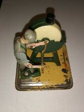 Vintage 1950s Fleischmann Western Germany Steam Engine Toy Wheel turning guy tin