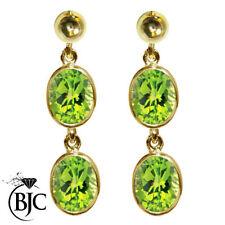 Peridot Drop/Dangle Not Enhanced Yellow Gold Fine Earrings