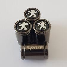 PEUGEOT Sport Titanium Grey Premium Alloy Valve Dust Caps All Models 3008 508