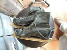 2 pair of vintage black ice skates 11 inch long