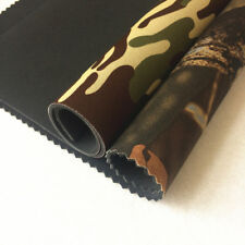 Camouflage neoprene fabric with three colors camo and forest and green printing