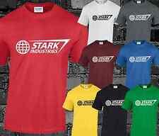 Stark Industries Mens T Shirt Top Iron Man Avengers Movie Film Sci-Fi Cool S-5XL