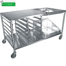 "Stainless Steel Donut Table w/ Glaze Dipper (66"" x 34"")"