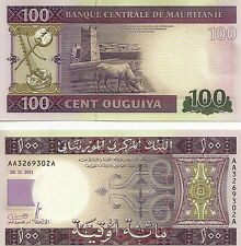 2011 Mauritanie 100 Ouguiya uncirculated note
