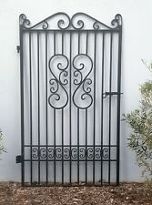 FRENCH STYLE PEDESTRIAN GATE WROUGHT IRON  Black 1910 h x 1175 mm w