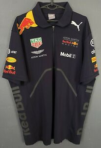 MINT MEN'S RED BULL RACING F1 2017 TEAM SHIRT JERSEY POLO MAILLOT SIZE XL