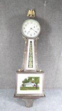 Antique  New Haven Banjo Clock weight driven