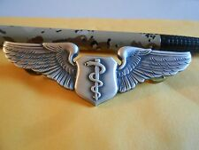 Vietnam Era United States Air Force Flight Surgeon Wings Badge by Krew T3
