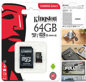 Kingston 64GB High Endurance Video Monitoring Dash Cam Micro SDXC Memory Card