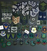 Nice  HUGE lot of 95+ US Air Force Badges,buttons, patches & Ranks.