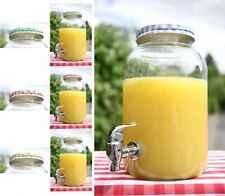 Getränkespender mit Zapfhan im Einmachglas Look - ca. 3,5 Liter (Deckelfarbe zuf