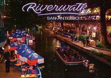 Riverwalk Downtown San Antonio Texas, River Boat Cruise Restaurant TX - Postcard