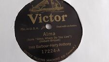 Inez Barbour - 78rpm single 10-inch – Victor #17224 Alma