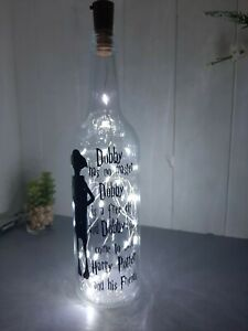 "Decorated Bottle With Lights "" Dobby """